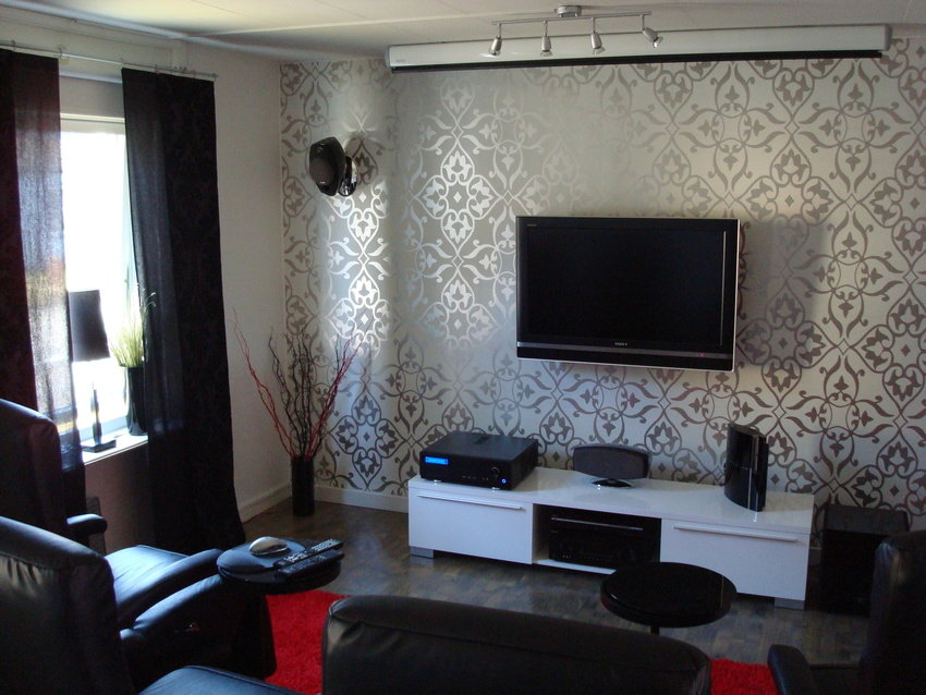 living room tv setup - Bedroom Wallpaper Designs Ideas