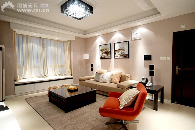 28 red and white living rooms for Modern lounge room designs