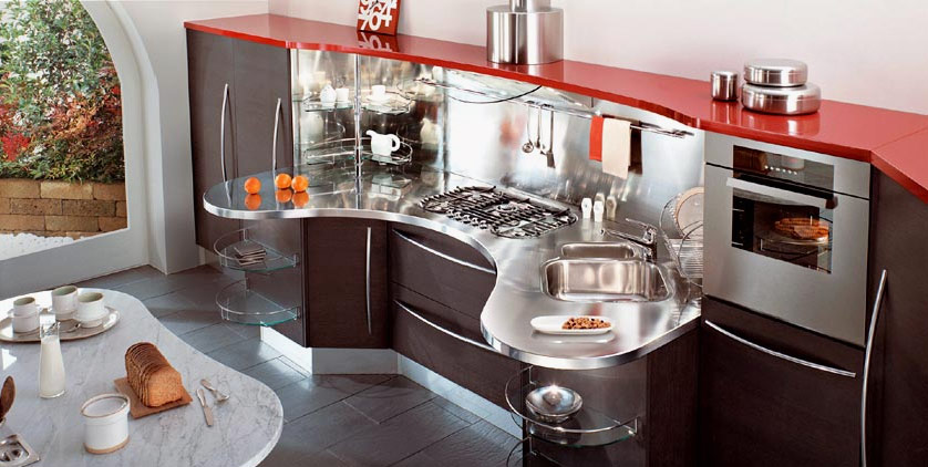 Red kitchens for Italian modular kitchen