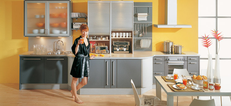 Yellow kitchens for Grey yellow kitchen ideas