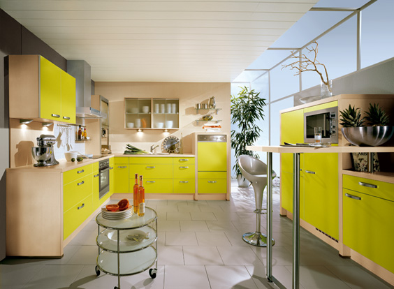 nobilia yellow kitchen