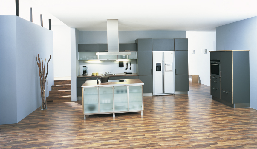 By Neopolitan Kitchens blue modular kitchen
