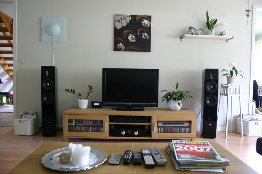 Delightful Living Room Design. Tv Setup