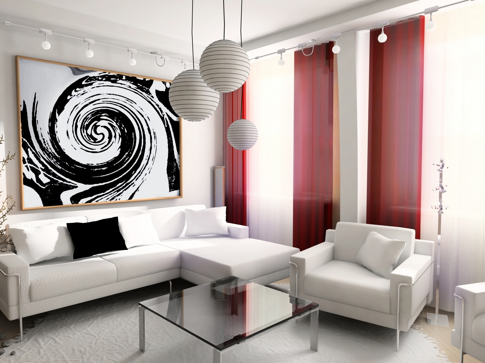 White living room decoration - White Living Room