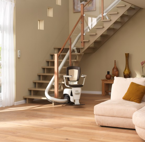 curved stair lift sinor by thyssenkrupp monolift 1