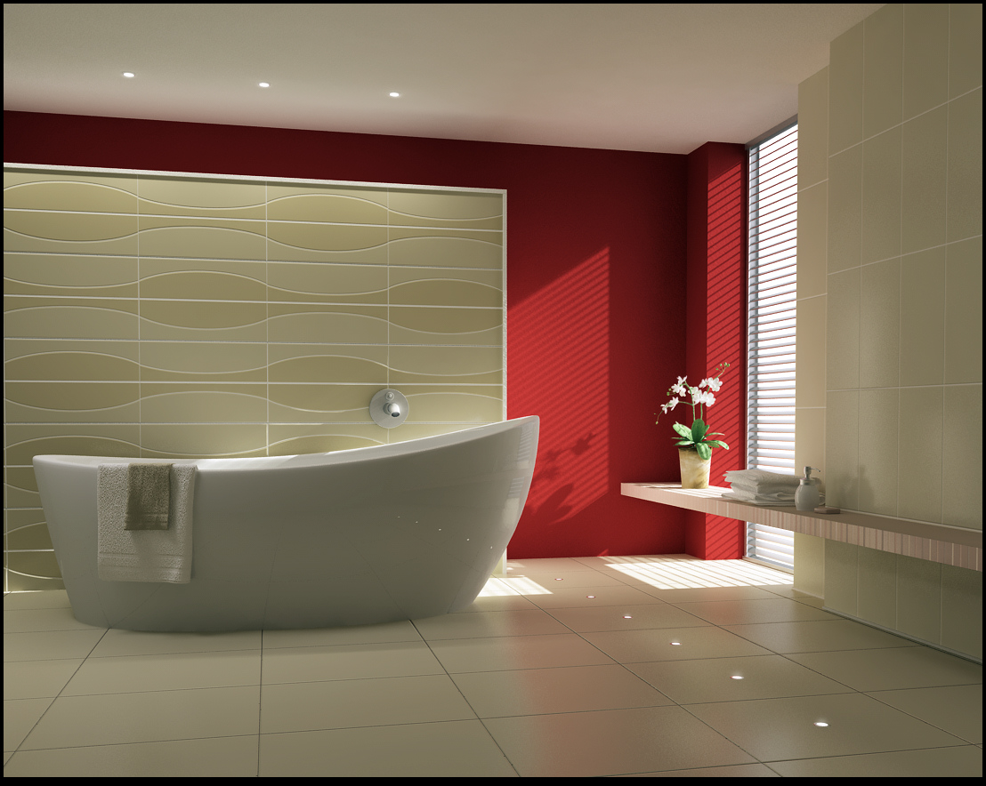 Inspirational bathrooms for Bathroom decor lights