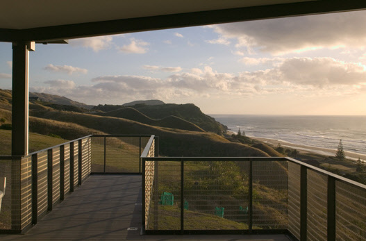 beach house balcony