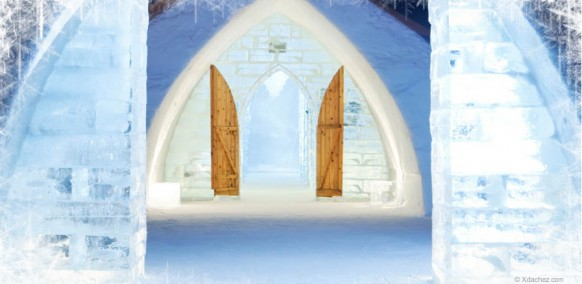 beautiful ice hotel
