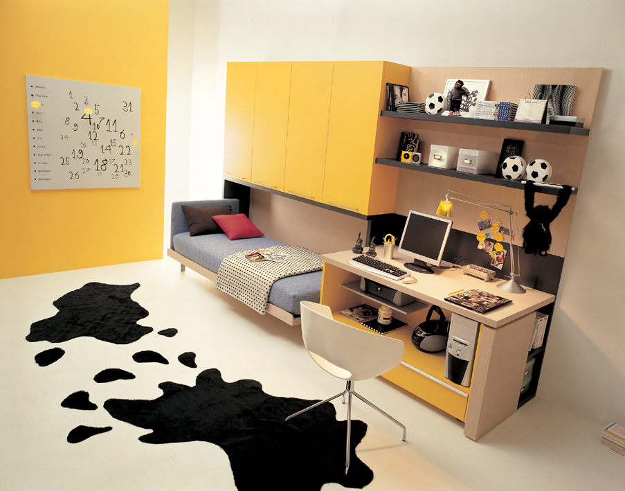 Small Space Bedroom Furniture ideas for teen rooms with small space