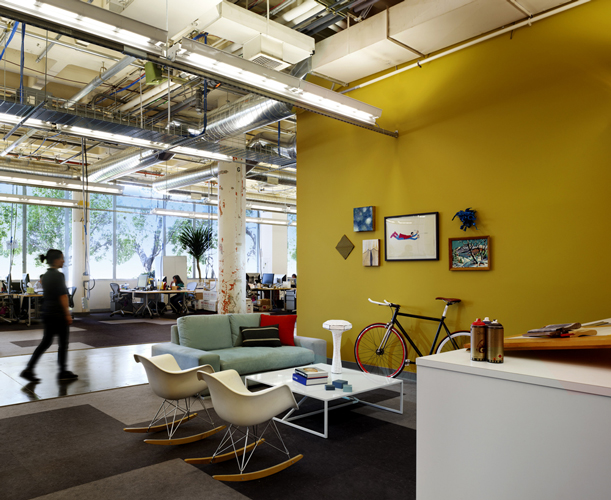 Facebook 39 s new cool office for Funky office designs