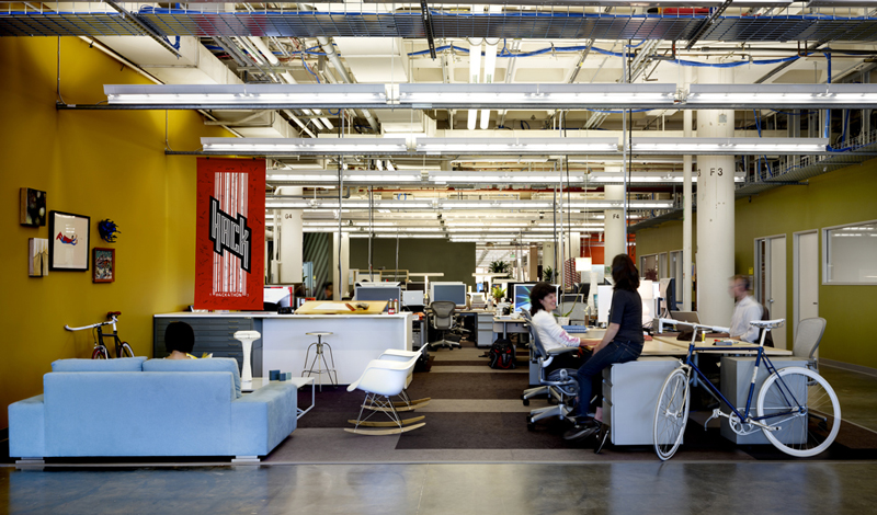 cool office design. Facebook-work-environment Cool Office Design