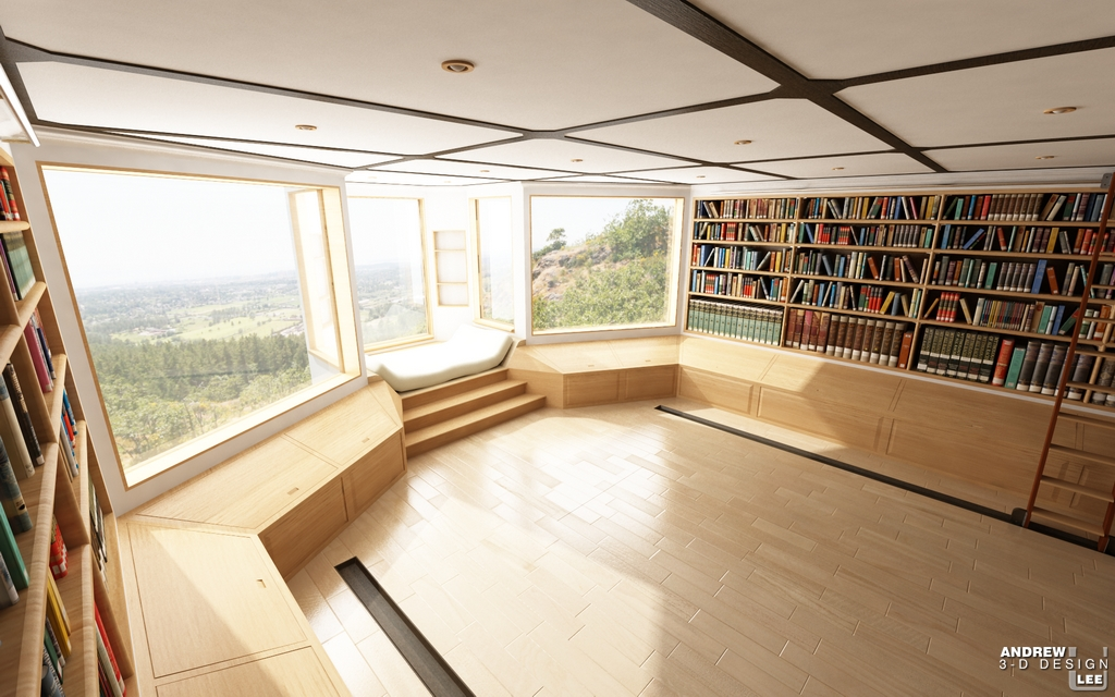 Modern Home Library Design home library design