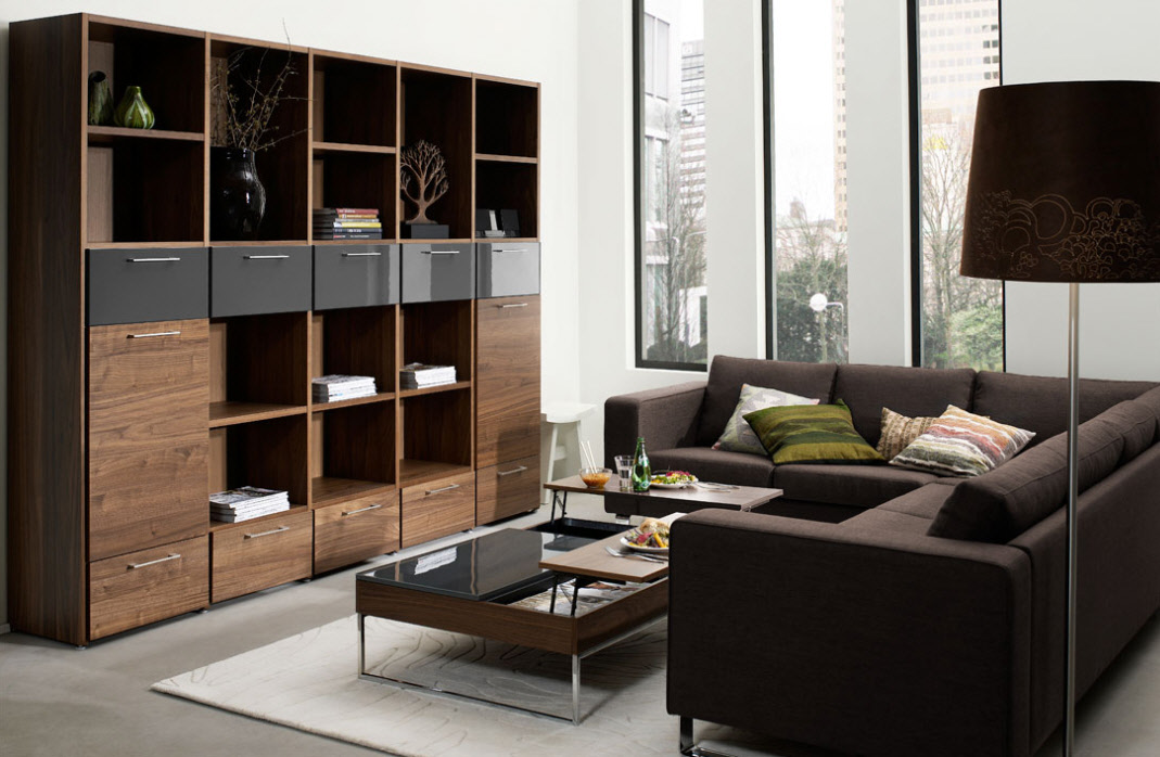 Contemporary living room furniture for Living room designs brown furniture