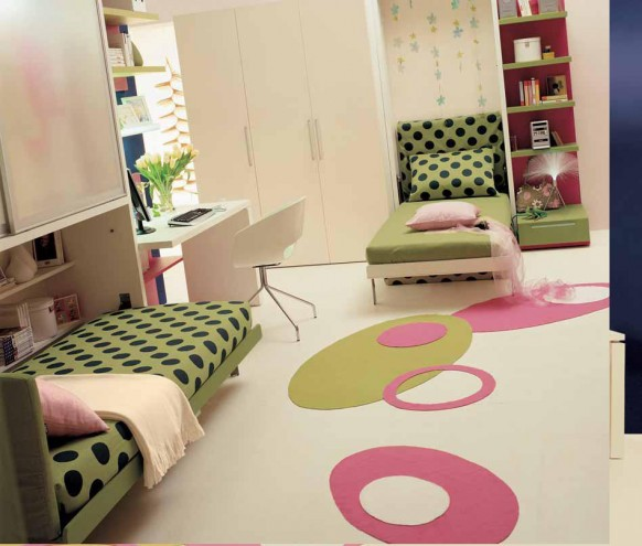 teen bedroom double beds