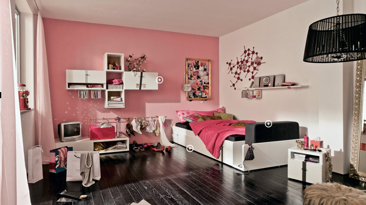 Ideas for teen rooms with small space for Cool teen bedroom ideas