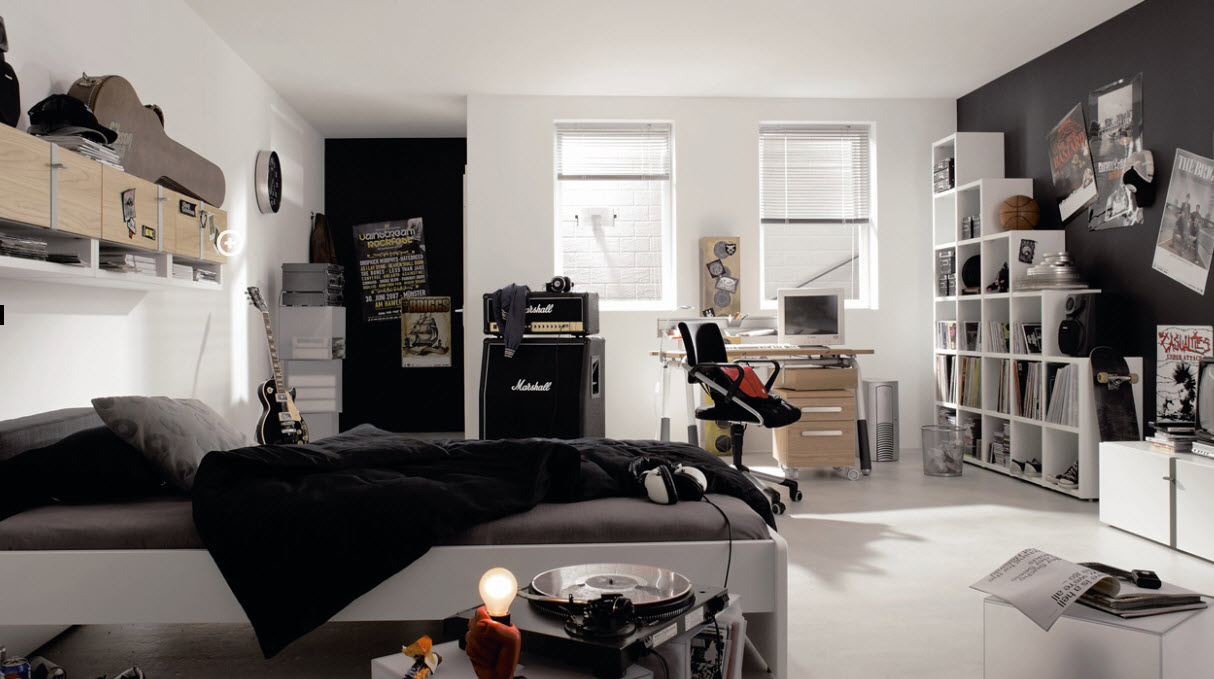 The sleek ledgers, pin ups and posters bring these rooms alive!
