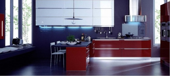 veneta cucine blue kitchen