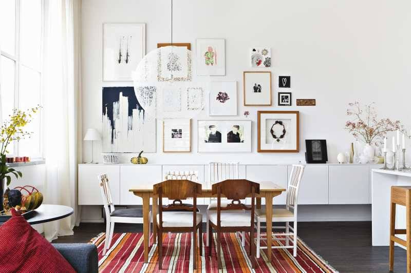 Beautiful scandinavian home for Black n white dining rooms