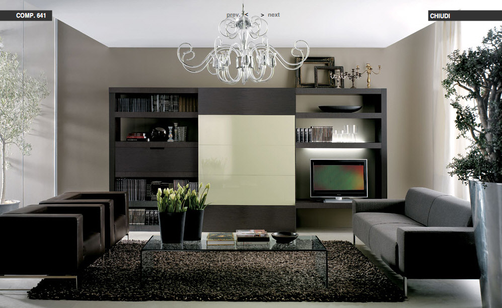 Italian Living Room modern living rooms from tumidei
