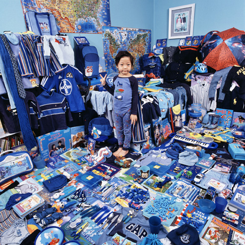 Blue themed boy's room