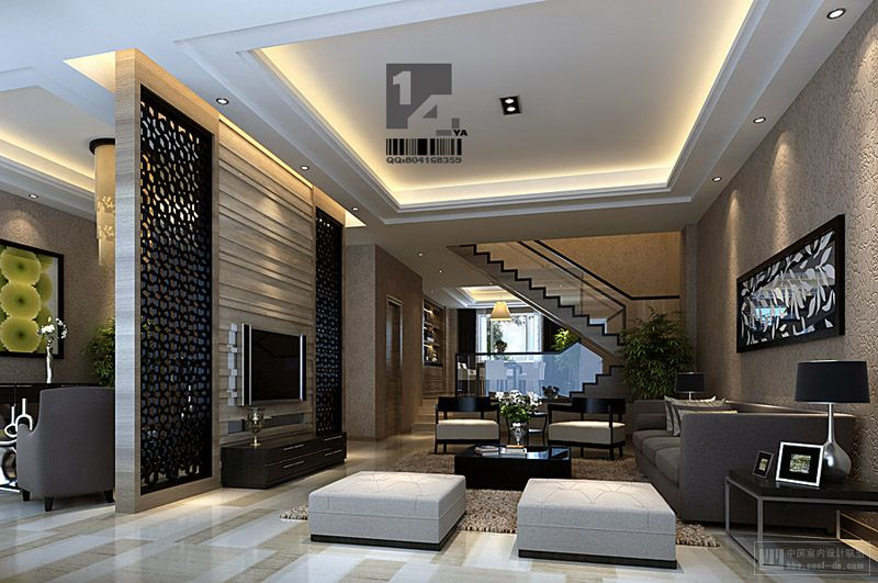 Modern chinese interior design - Modern living room design images ...