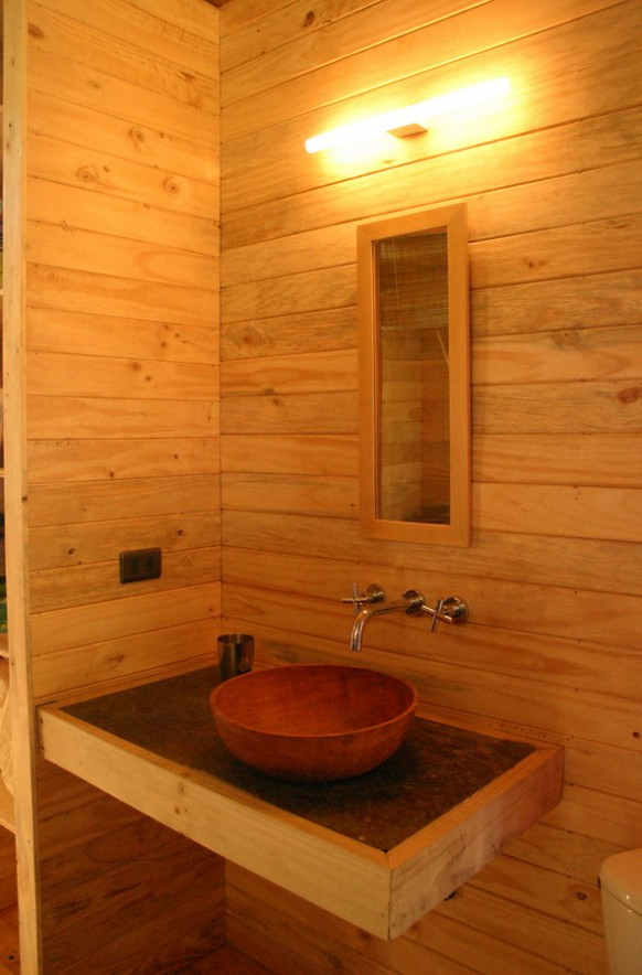 beautiful bathroom in wood