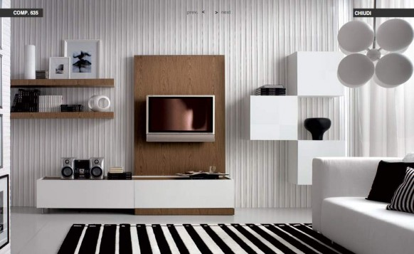 black-white-stripped-livingroom