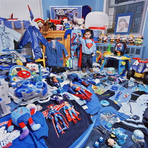blue superman room