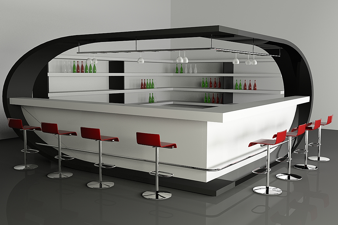Bar Design Ideas view in gallery modern bar with durable countertops top 7 list of 40 inspirational home bar design ideas Chic Bar Design