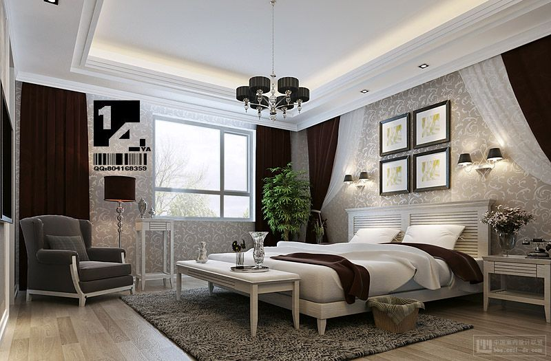 Chinese Bedroom Decor Hall Living Room White