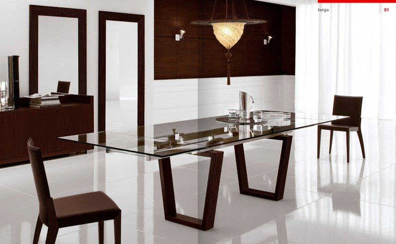Beautiful dining rooms from cattelan italia for Beautiful dining room tables