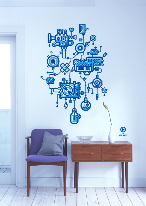 Cool wall stickers for decoration for Wall decoration ideas with photos