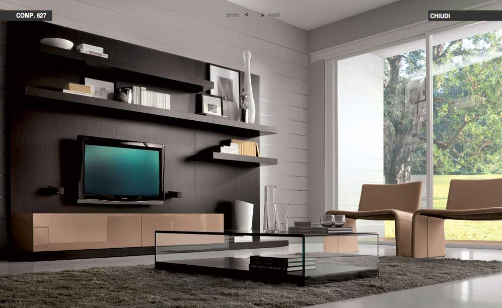 Modern living rooms from tumidei for Living hall decoration idea
