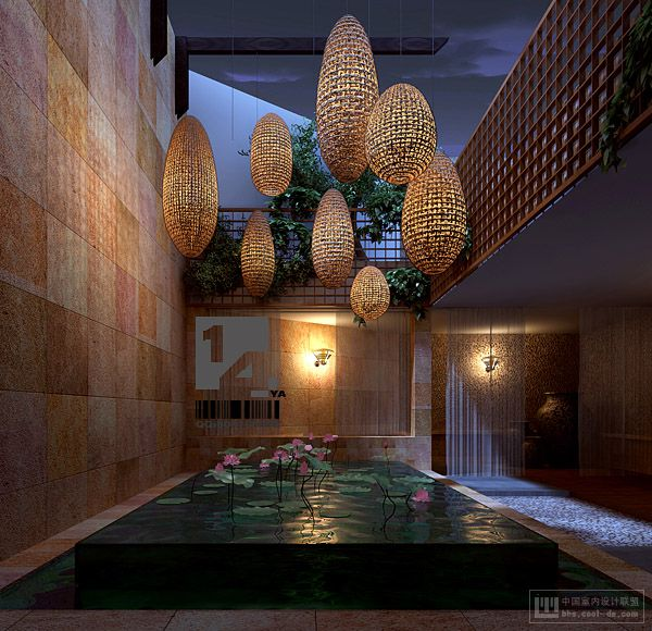 Modern chinese interior design for Interior pool house designs