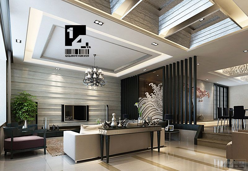 Modern chinese interior design Modern house interior design