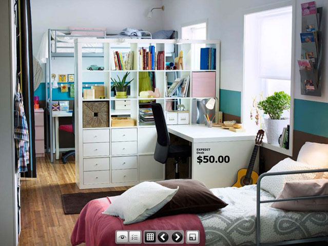 Dorm room inspirations from ikea for Jugendzimmer young users
