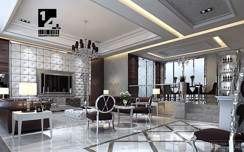 Modern chinese interior design - Silver living room designs ...