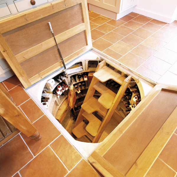 Trap door wine cellar designs for Home wine cellar designs