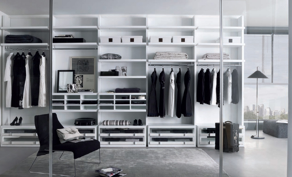 Wardrobe furniture from misuraemme for Walk in wardrobe design