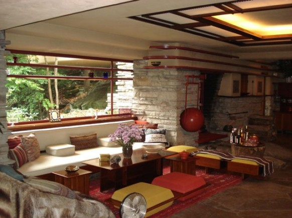 Fallingwater sitting area