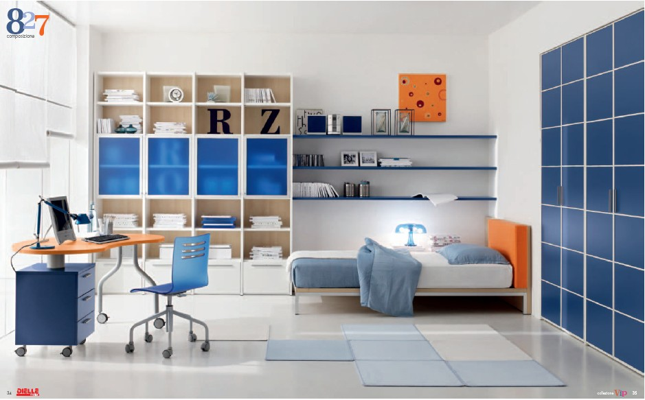 Modern kids room furniture from dielle for Room with furniture