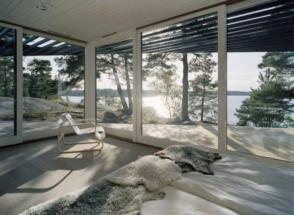 bedroom in archipelago house