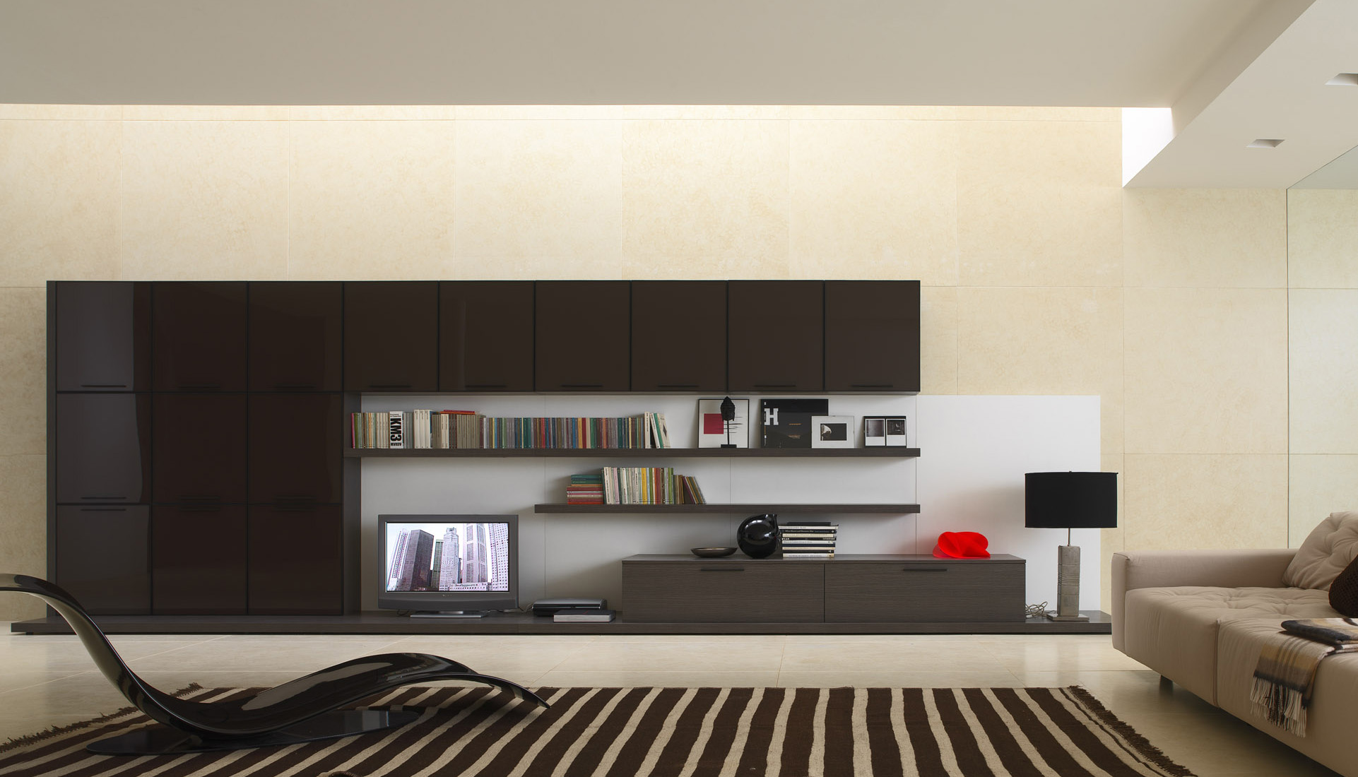 Living rooms from zalf for Black and beige bedroom ideas