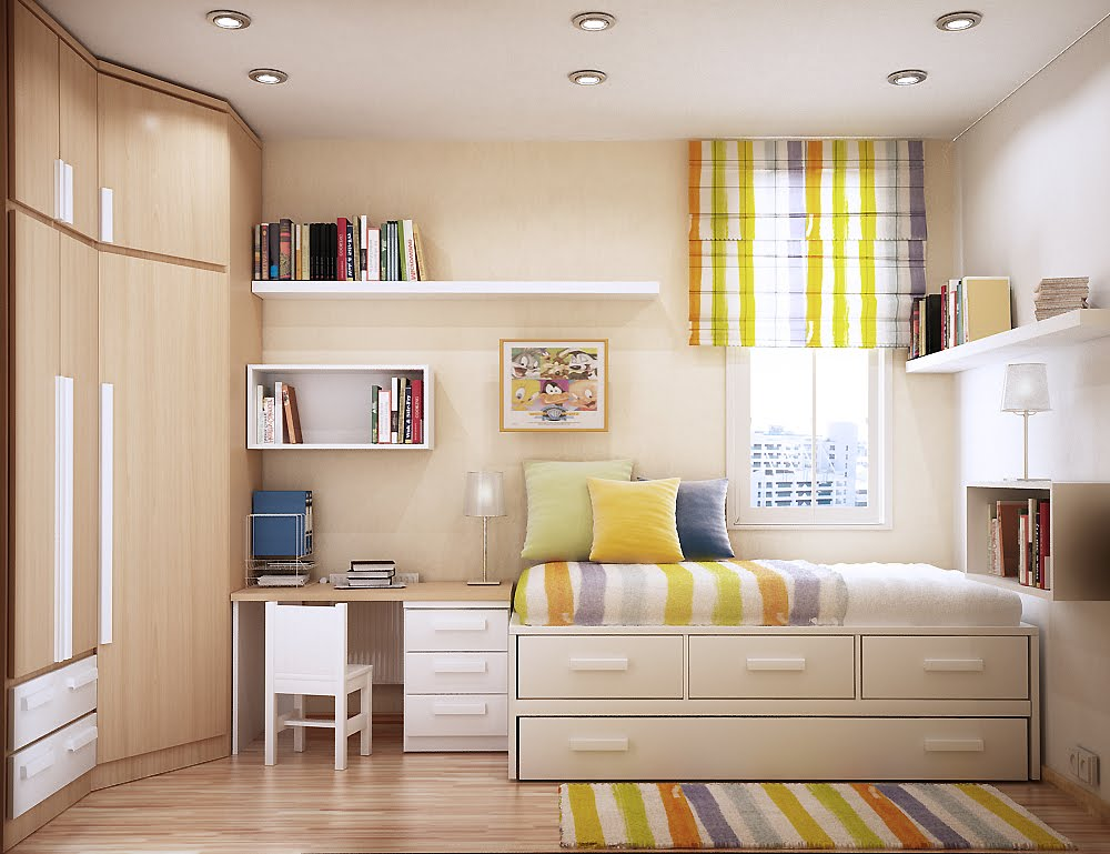 bright and cheerful room space saving ideas for small kids rooms - Bedroom Ideas For Small Rooms