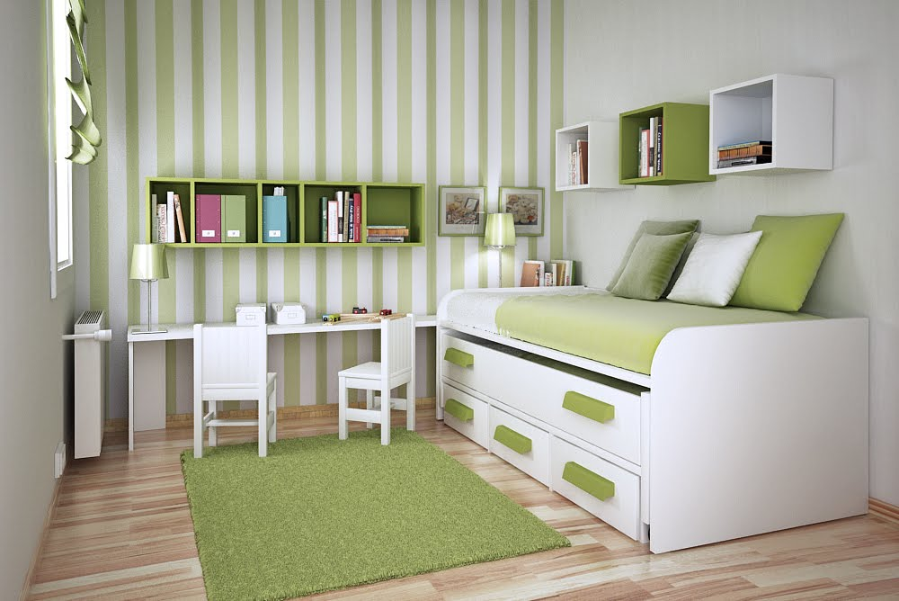 green room. Space Saving Ideas for Small Kids Rooms
