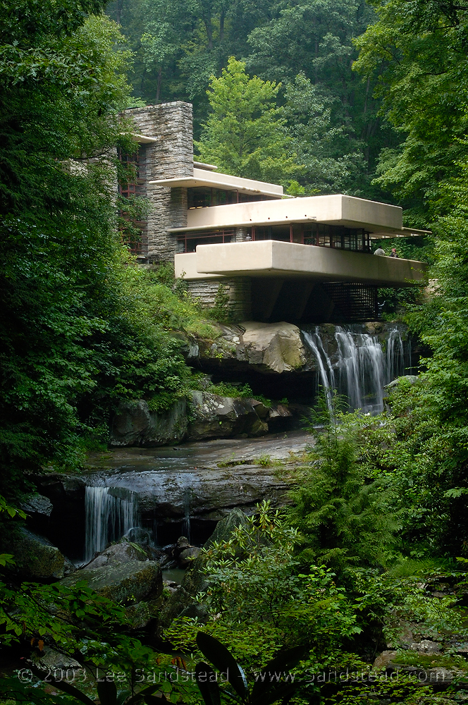 Exceptional Falling Water Outside. House Over Waterfall