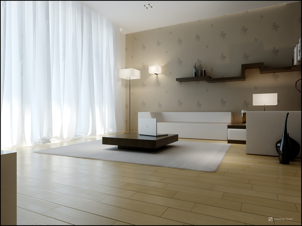 10 beautiful living room spaces for Minimalist living room decor