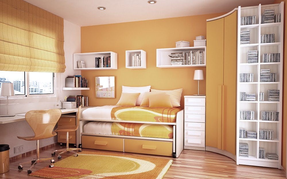 kids rooms small study room designs. orange and white room kids rooms small study designs