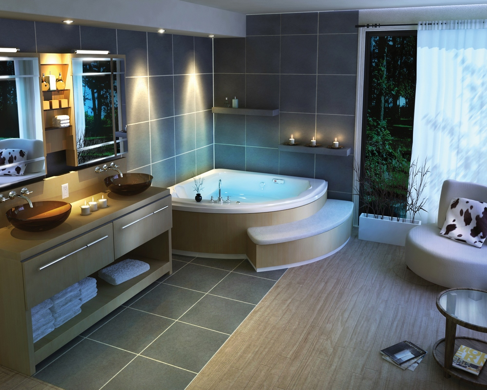 Beautiful bathroom ideas from pearl baths for Amazing bathroom remodels