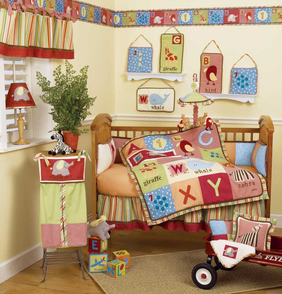 Baby bedding sets and ideas for Alphabet decoration